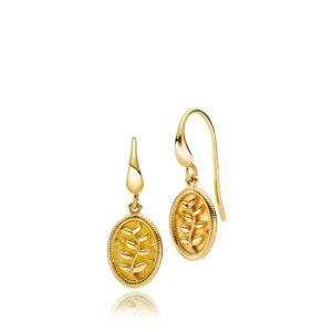 ANNA øreringe i 18 karat guldbelagt sterlingsølv